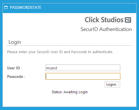 SecurID Authentication