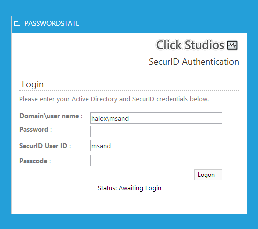 SecurID and AD Authentication