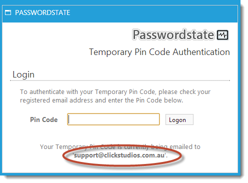 Two-Factor Authentication Using Email and Pin Code