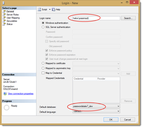 Configure Passwordstate to use a Managed Service Account