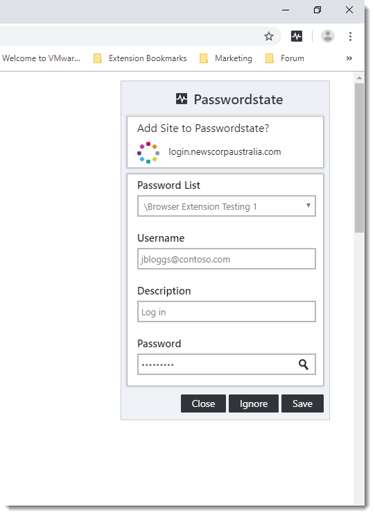 New Chrome Browser Extension for Passwordstate